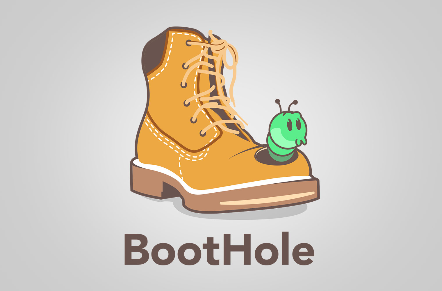 Grub in a hole in a boot